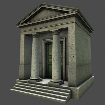 monument low poly classical roman temple shrine 3d model 3ds dxf fbx c4d texture obj 146439