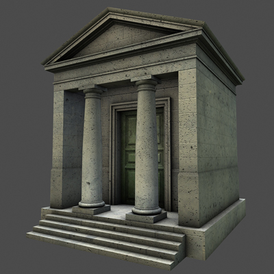 monument low poly classical roman temple shrine 3d model 3ds dxf fbx c4d texture obj 146440
