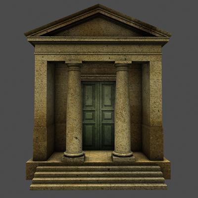 monument low poly classical roman temple shrine 3d model 3ds dxf fbx c4d texture obj 146445