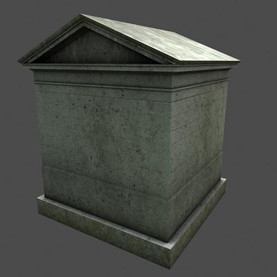monument low poly classical roman temple shrine 3d model 3ds dxf fbx c4d texture obj 146446