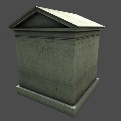monument low poly classical roman temple shrine 3d model 3ds dxf fbx c4d texture obj 146447