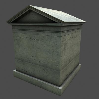 monument low poly classical roman temple shrine 3d model 3ds dxf fbx c4d texture obj 146448