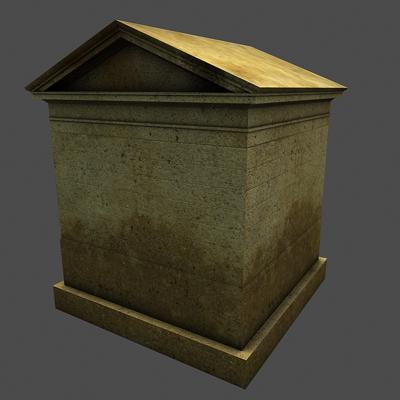 monument low poly classical roman temple shrine 3d model 3ds dxf fbx c4d texture obj 146449