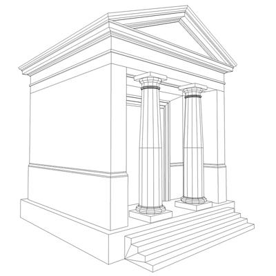 monument low poly classical roman temple shrine 3d model 3ds dxf fbx c4d texture obj 146450