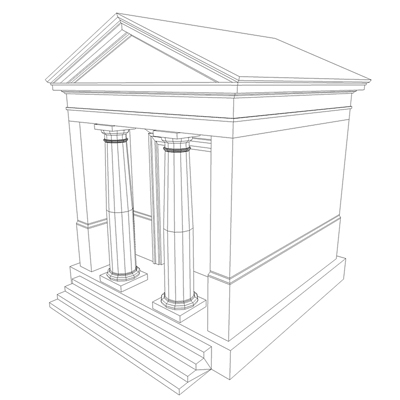 monument low poly classical roman temple shrine 3d model 3ds dxf fbx c4d texture obj 146451