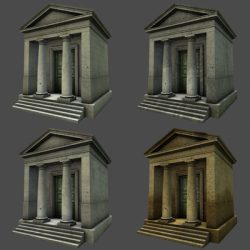 Monument Low Poly Classical Roman Temple Shrine ( 149.47KB jpg by johnjohnson )
