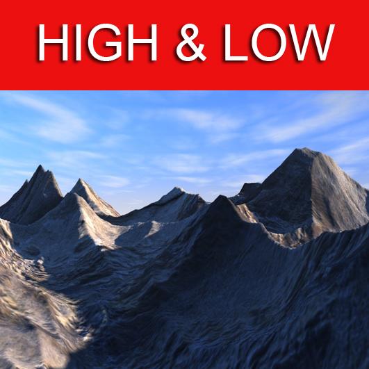 mountains 3d model 3ds max fbx c4d obj 138629