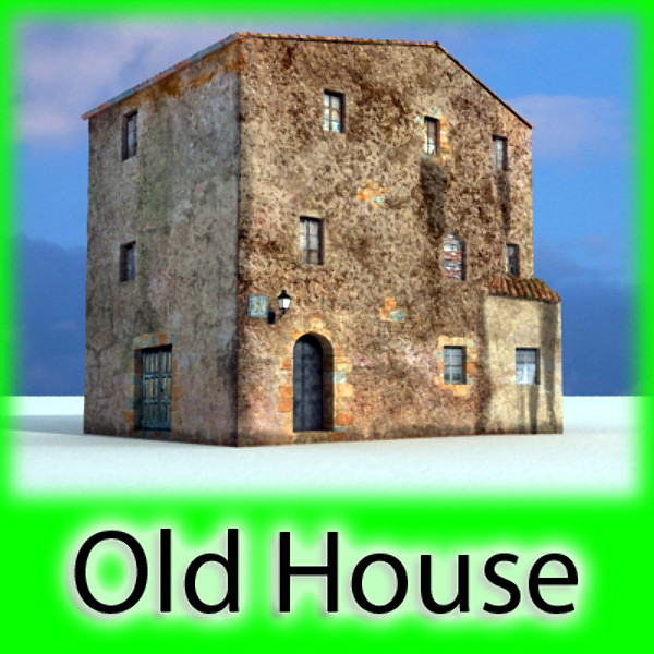 old european house detailed realistic 3d model max obj 129326