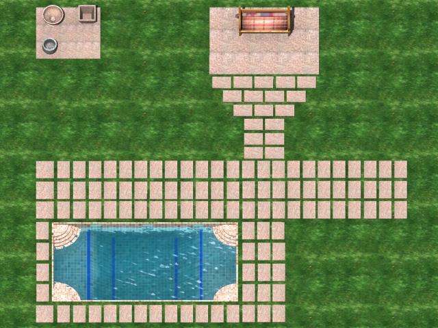 patio swimming pool 3d model max 142015