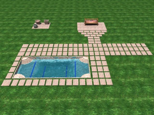 patio swimming pool 3d model max 142016