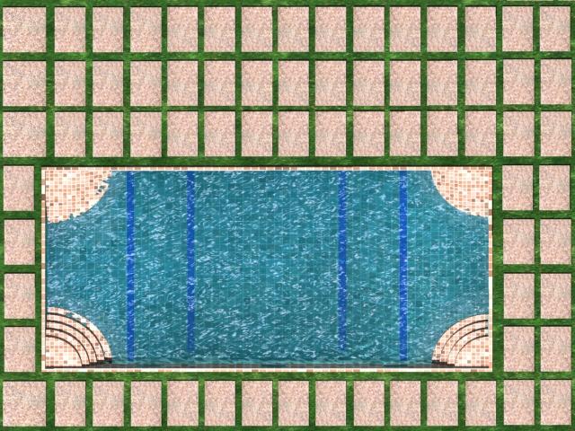 patio swimming pool 3d model max 142018