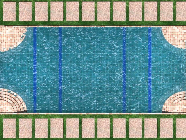 patio swimming pool 3d model max 142019