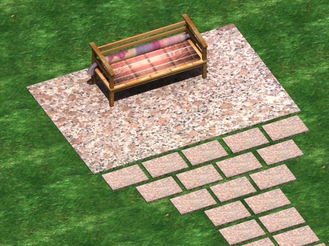 patio swimming pool 3d model max 142020