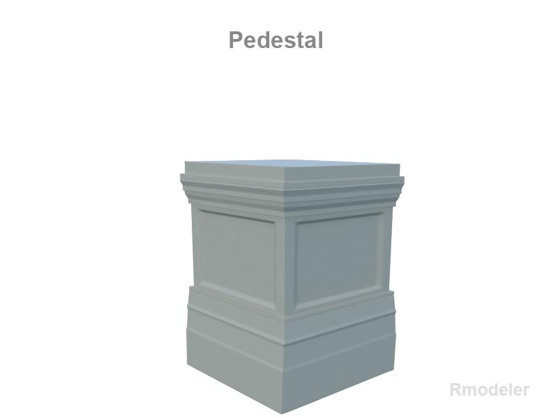 pedestal 3d model 3ds fbx c4d lwo ma mb obj 124692