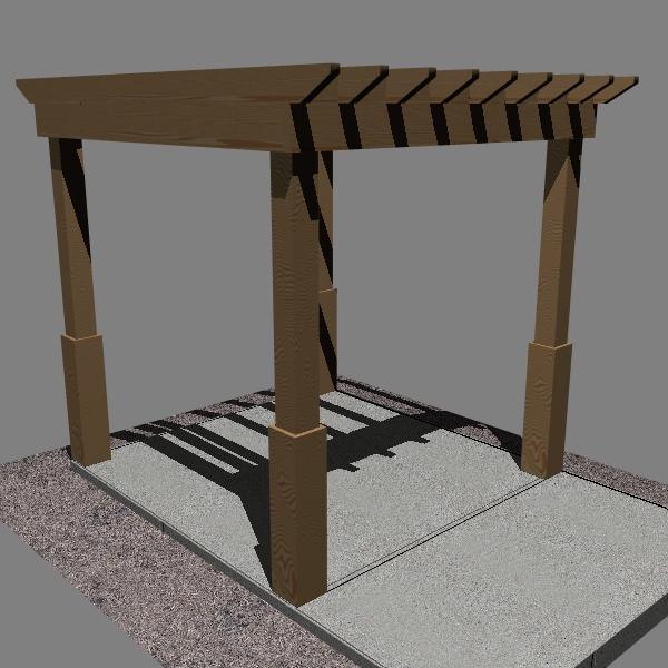 pergola 1 freestanding 3d model 3ds dxf x cod scn obj 133185