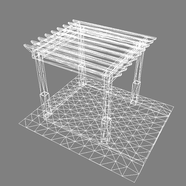 pergola 1 freestanding 3d model 3ds dxf x cod scn obj 133188