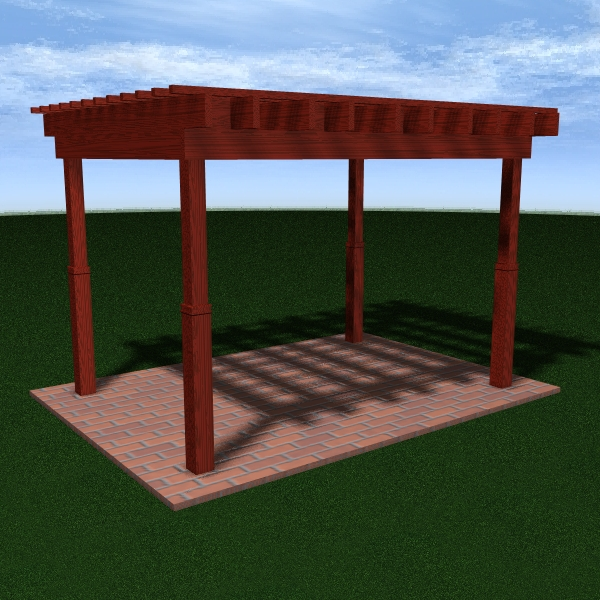 pergola 7 freestanding 3d model 3ds dxf cob x obj 158648