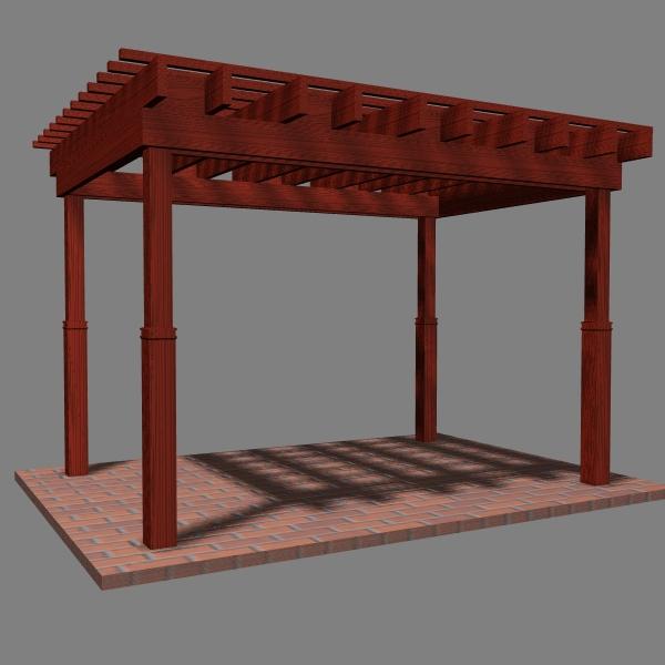 pergola 7 freestanding 3d model 3ds dxf cob x obj 158652