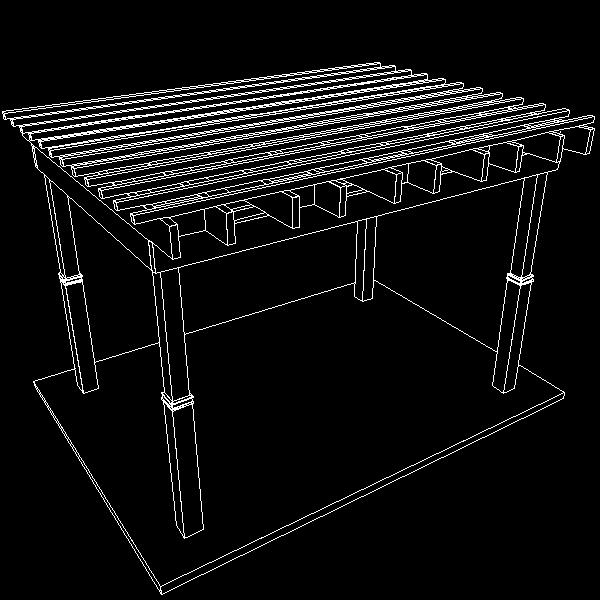 pergola 7 freestanding 3d model 3ds dxf cob x obj 158653