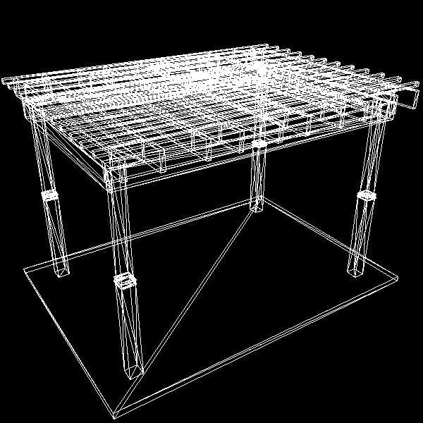 pergola 7 freestanding 3d model 3ds dxf cob x obj 158654