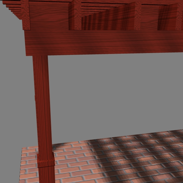 Pergola 7 Freestanding ( 145.22KB jpg by VisualMotion )