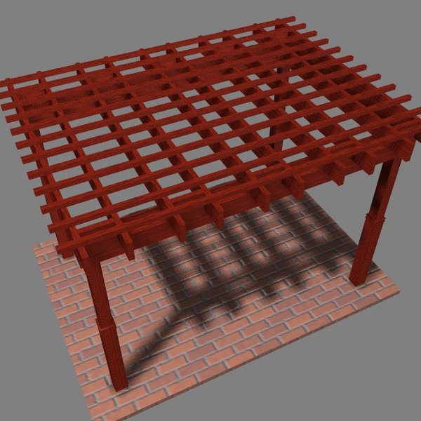 Pergola 7 Freestanding ( 243.27KB jpg by VisualMotion )