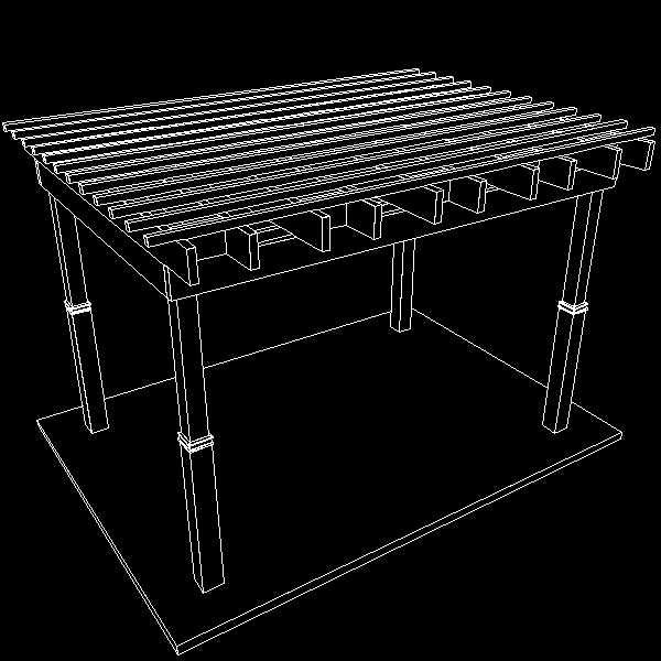 Pergola 7 Freestanding ( 164.59KB jpg by VisualMotion )