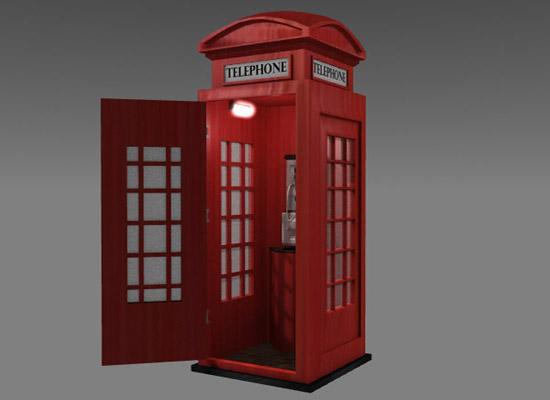 телефонски кабинет 3d модел lwo 159219