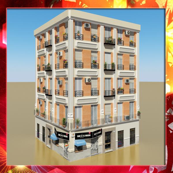 fotorealistiska zema poli ēka 13 3d modelis 3ds max obj 149399