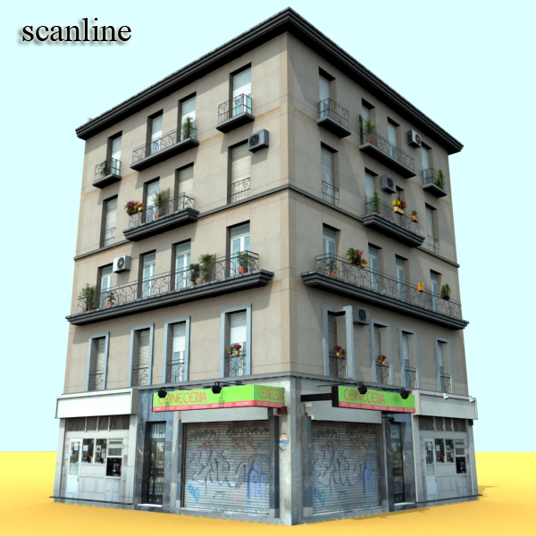 Photorealistic Low Poly Building 17