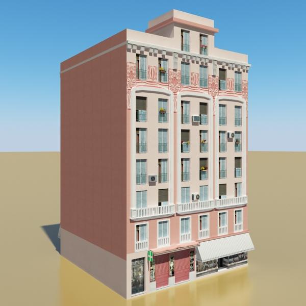 photorealistic low poly building 20 3d model 3ds max obj 149895