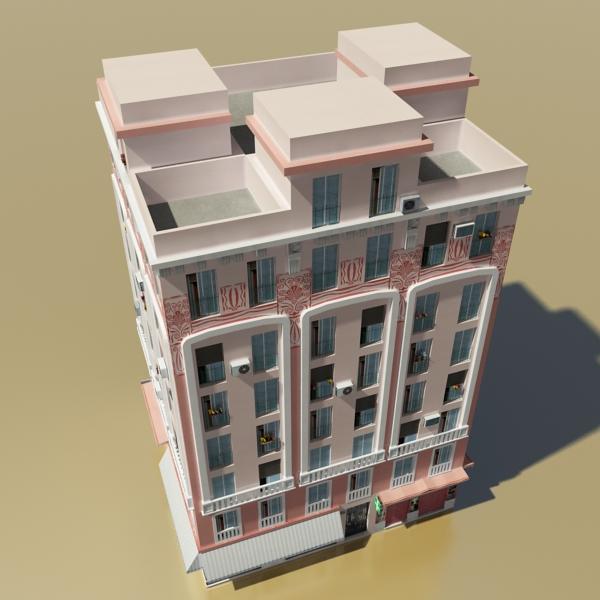 photorealistic low poly building 20 3d model 3ds max obj 149896