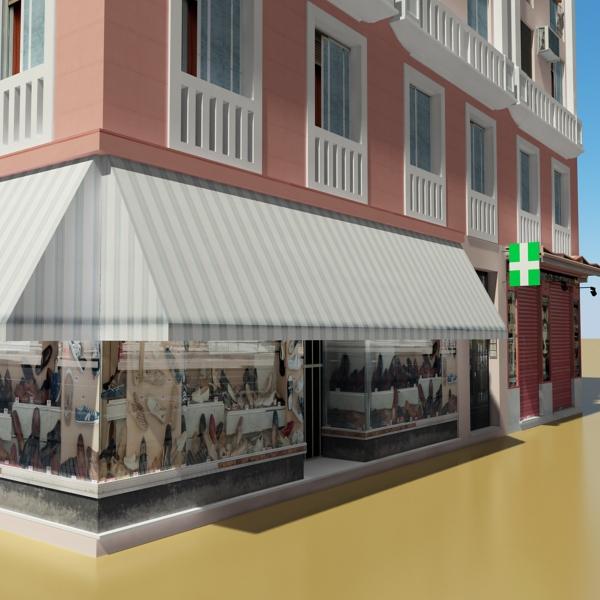 photorealistic low poly building 20 3d model 3ds max obj 149897