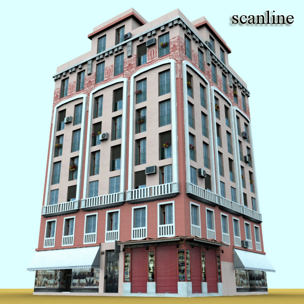 photorealistic low poly building 20 3d model 3ds max obj 149902