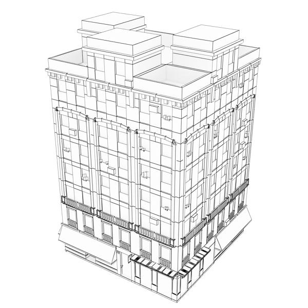 photorealistic low poly building 20 3d model 3ds max obj 149903
