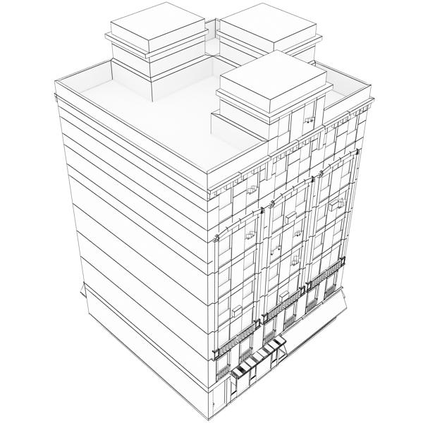 photorealistic low poly building 20 3d model 3ds max obj 149904