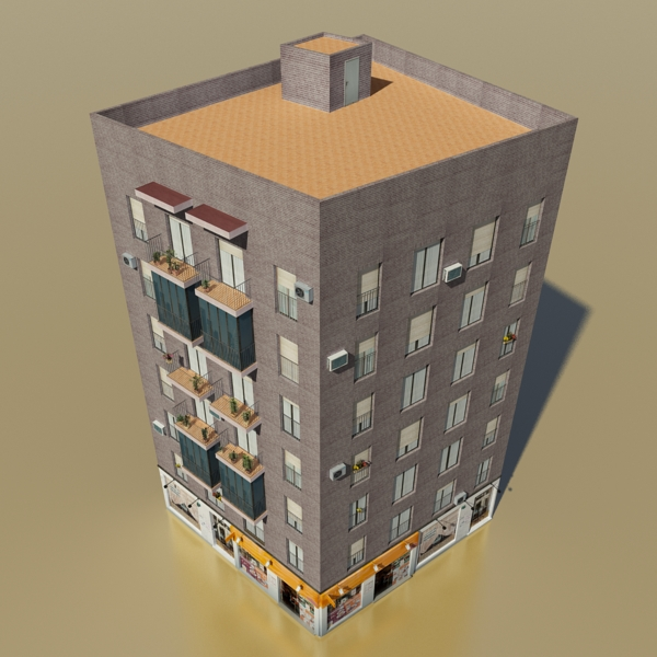 photorealistic low poly building 22 3d model 3ds max obj 150073