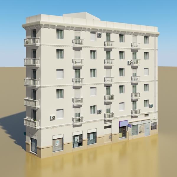 photorealistic low poly building 7 3d model max obj 148731