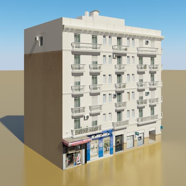 photorealistic low poly building 7 3d model max obj 148732
