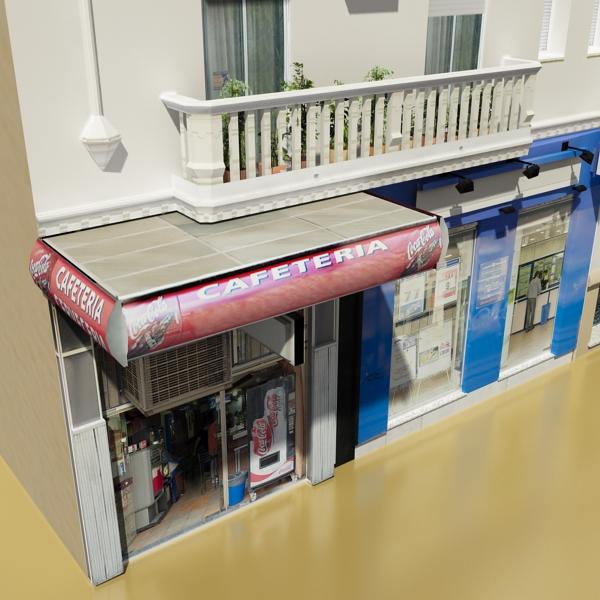 photorealistic low poly building 7 3d model max obj 148733