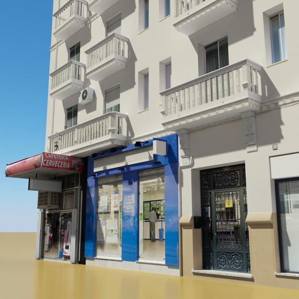 photorealistic low poly building 7 3d model max obj 148734