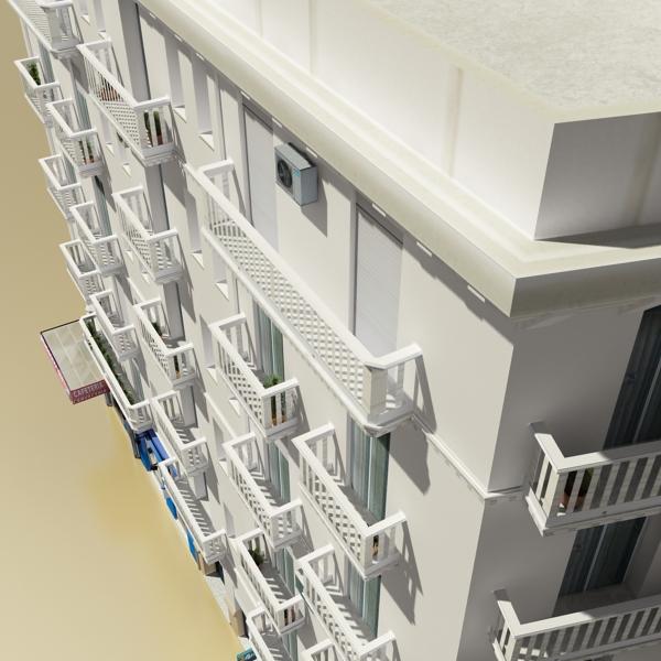 photorealistic low poly building 7 3d model max obj 148735