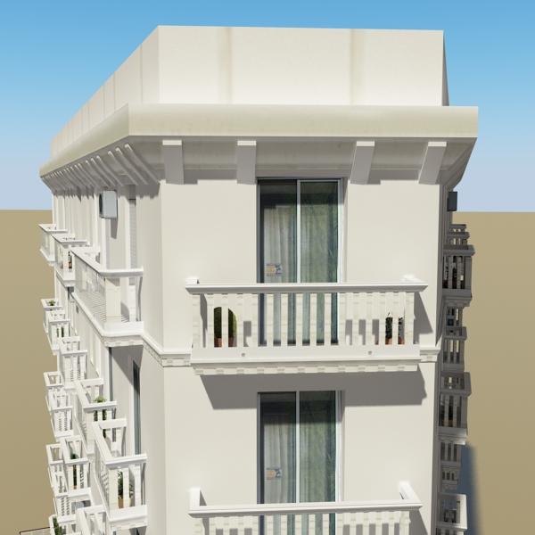 photorealistic low poly building 7 3d model max obj 148736