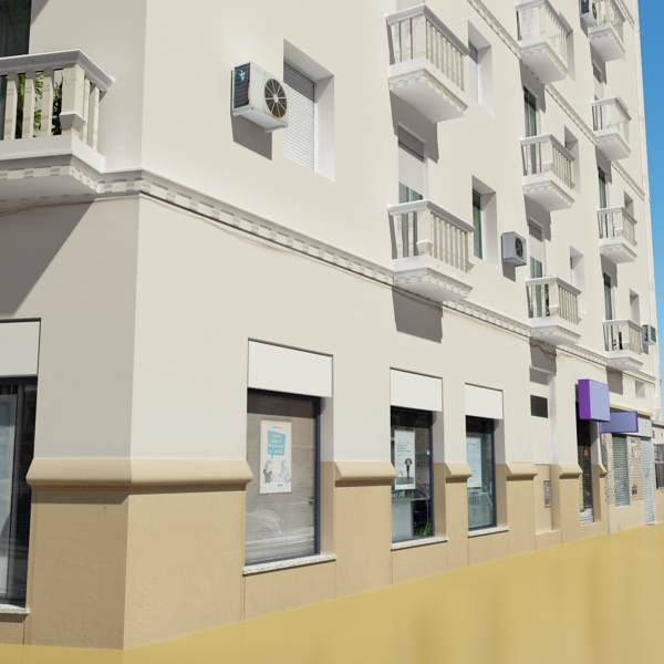 photorealistic low poly building 7 3d model max obj 148737
