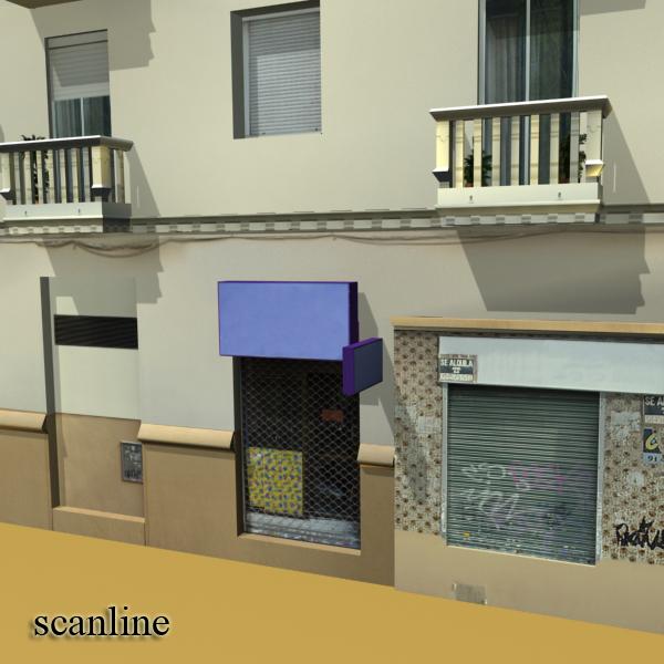 photorealistic low poly building 7 3d model max obj 148739