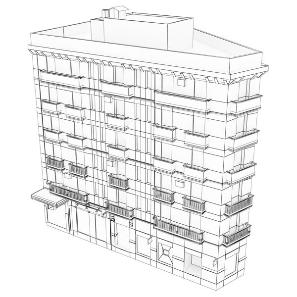 photorealistic low poly building 7 3d model max obj 148741