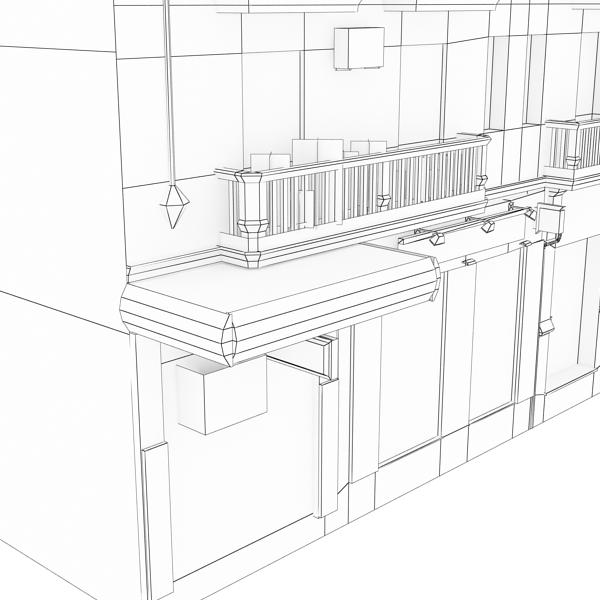 photorealistic low poly building 7 3d model max obj 148743