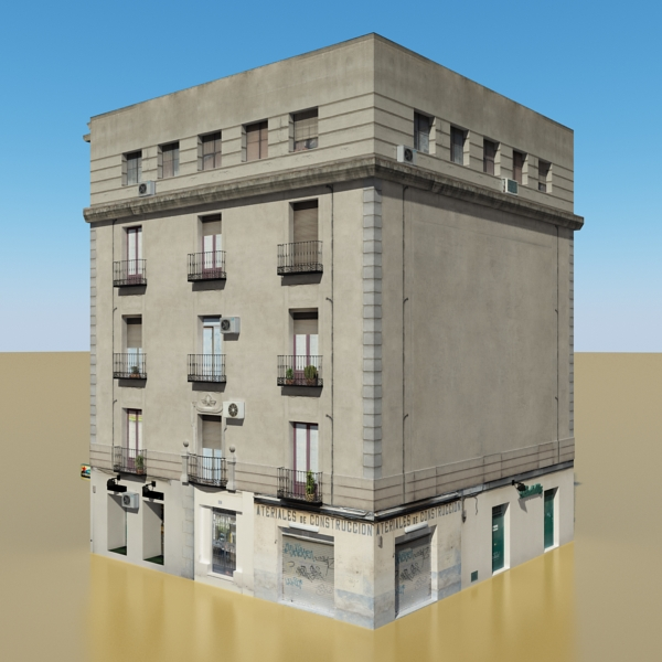 photorealistic low poly building 8 3d model 3ds max obj 148756