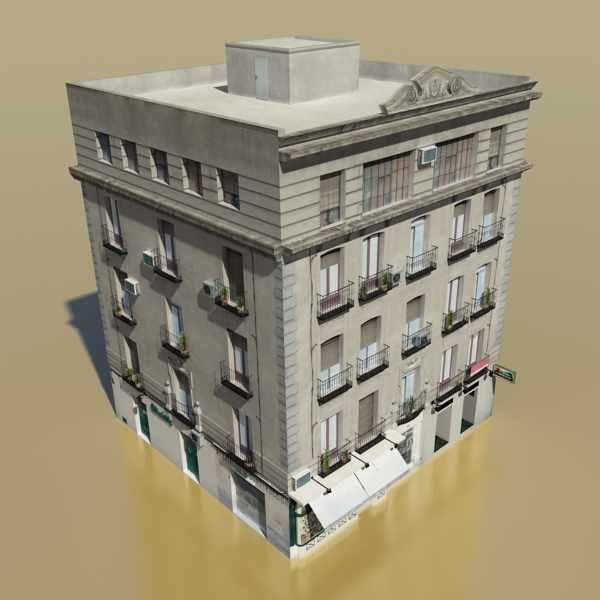 photorealistic low poly building 8 3d model 3ds max obj 148757