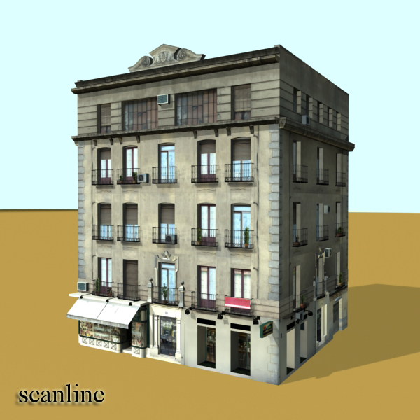 photorealistic low poly building 8 3d model 3ds max obj 148762